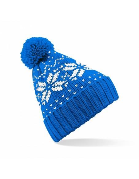 Otroška pletena kapa z retro vzorcem