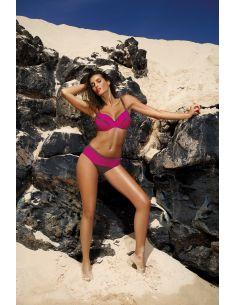Ženski dvodijelni kupaći kostim za velike grudi Barbara Dark Taupe-Razberry M-473 (1)