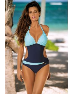 Ženski jednodijelni monokini kupaći kostim Beatrix Blu Scuro-Fata M-337 (6)