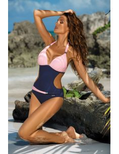Ženske enodelne monokini kopalke Beatrix Blueberry-Rosa Confetto M-337 (12)