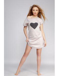 Ženska spalna srajčka Love bež