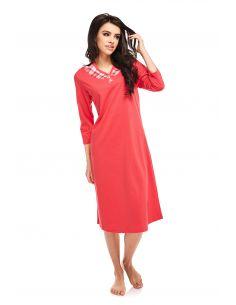 Ženska spalna srajčka Rosabella 238 rdeča 3/4 rokavi