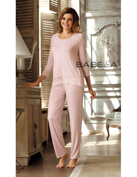 Ženska pižama Olimpia Morelowy roza