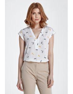 Bluza z V-izrezom brez rokavov B75