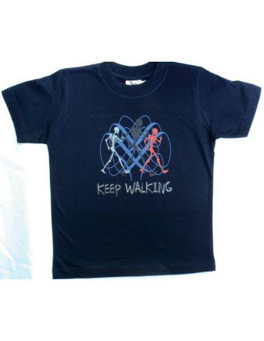 Fantovska majica Keep walking temno...