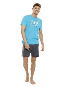 Moška pižama Epic 35735-50X turkizna-siva