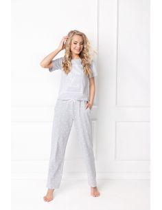 Ženska pidžama Hearty Long siva