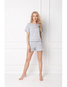 Ženska pidžama Hearty Short siva