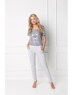 Ženska pižama Huggy Bear Long siva