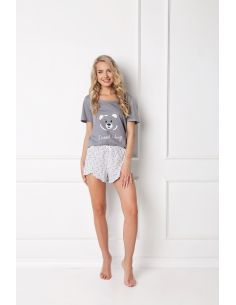 Ženska pižama Huggy Bear Short siva
