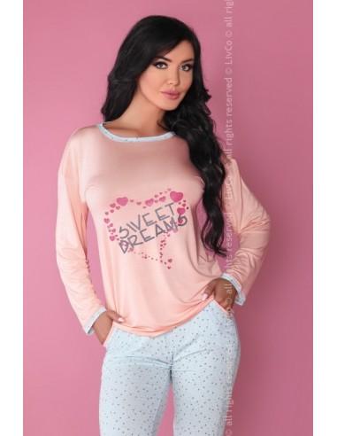 Ženska pižama Sweet Dreaming 107 roza-modra