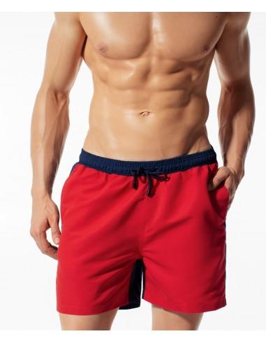 Moške kopalne hlače Contrast KMB-182 rdeča