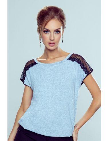Ženska majica Dagna New Melanż-svetlo siva