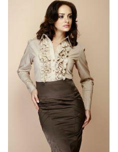 ženska košulja s volanima, dugi rukavi M012