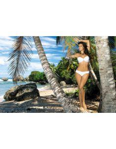 Ženski kupaći kostim Eliza M-122 -9- bijela