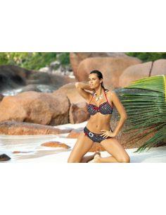 Ženski kupaći kostim Eleni M-188 crna-bijela -168-