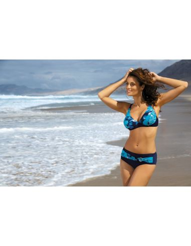 Ženske kopalke Ella Blu Scuro M-238 modra (146)