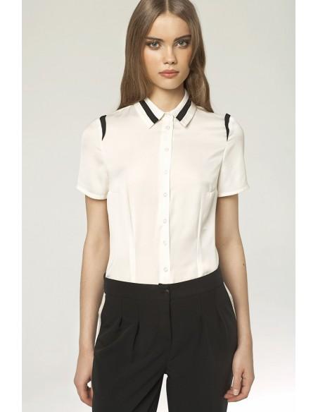 Ženska elegantna srajca z kratkimi rokavi K41