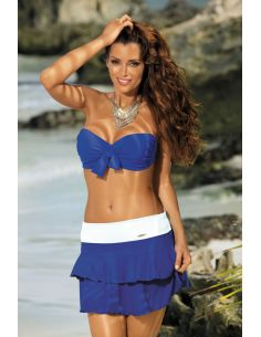 Kupaća suknja Mila Blu Persia-Bianco M-334 (24)